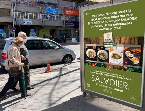 Material gráfico y publicidad exterior para nuevo restauranteSALADIER